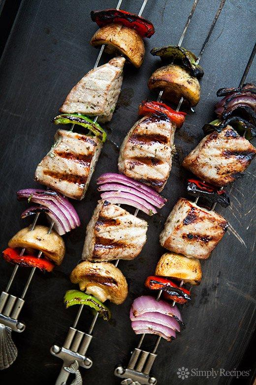 Grilled Tuna Kebabs recipe