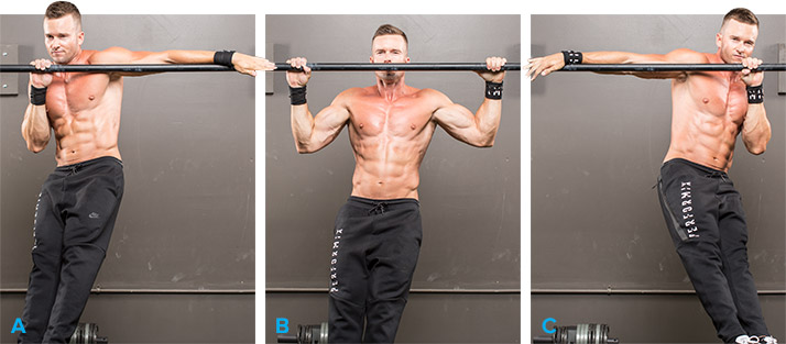 Archer pull ups - A complete list of Calisthenics exercises. Image credit: Bodybuilding.com.