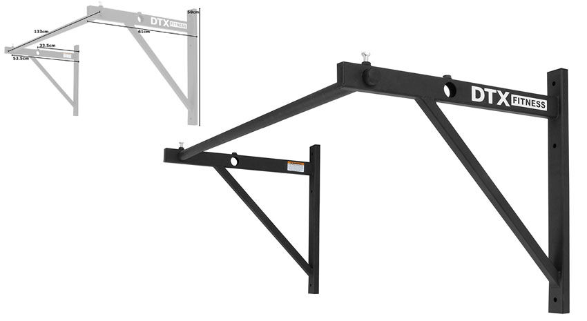 DTX Fitness Commercial Style Wall Mounted Pull Up Bar - Full Bar