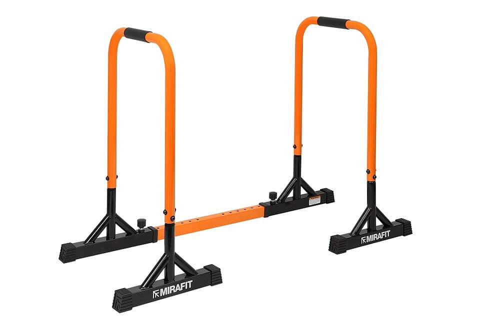 Mirafit Parallel Dip Bars with Adjustable Width Extension