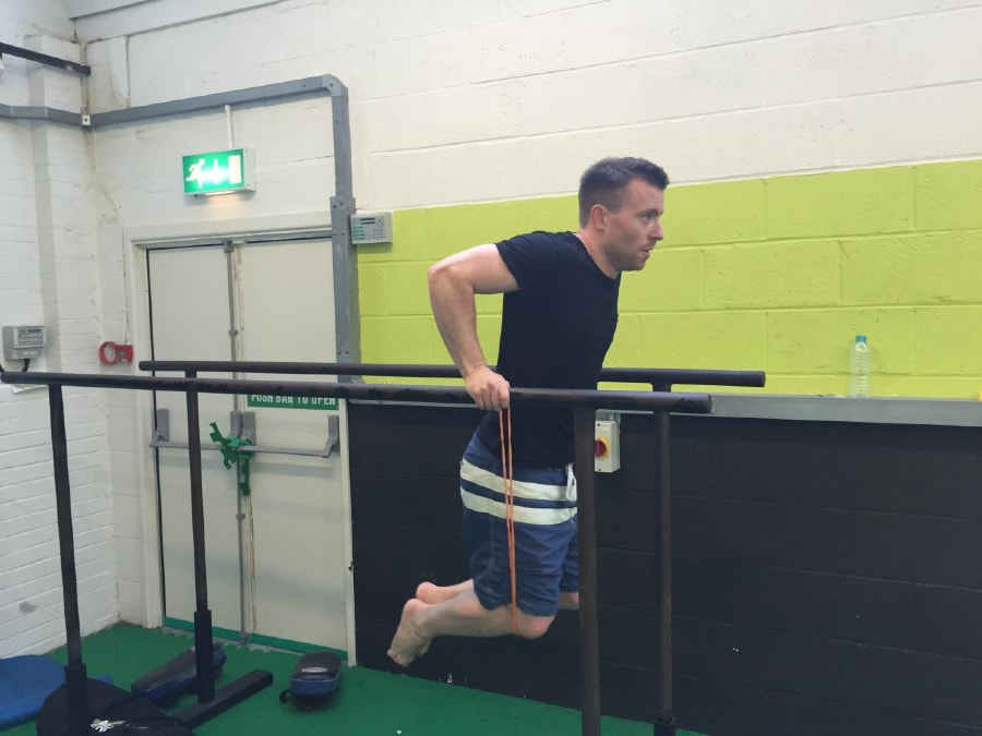 Resistance Band Dips 2 of 2