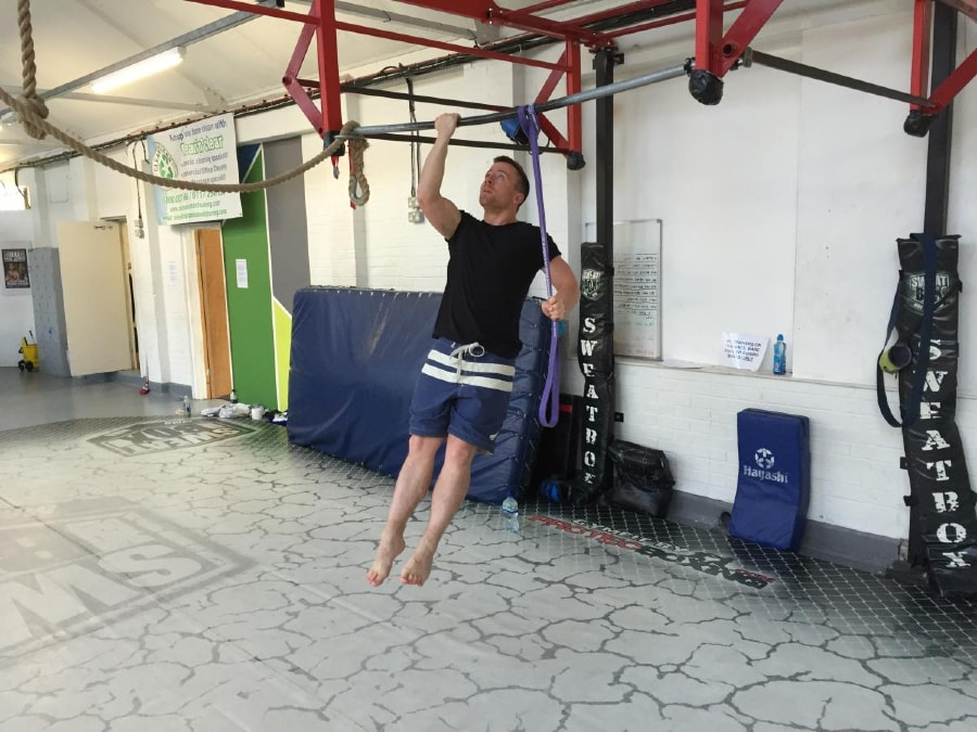 Resistance Band One Arm Pull-Up 1 of 2