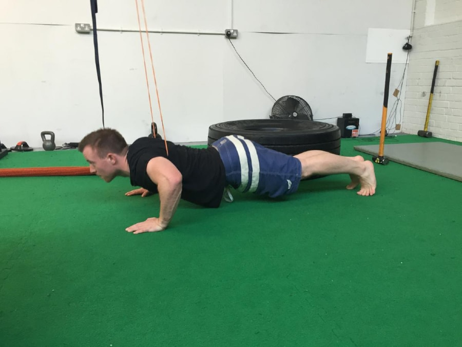 Resistance Band Push-Ups 2 of 2