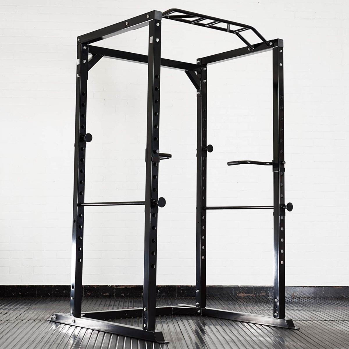 Mirafit Heavy Duty Olympic Power Cage with Multi-Grip Pull-Up Bar