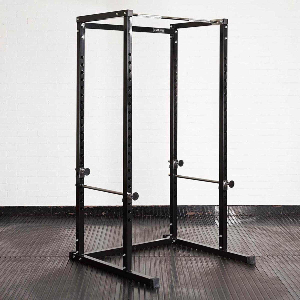 Mirafit Power Rack Weight Lifting Cage & Pull Up Bar Review