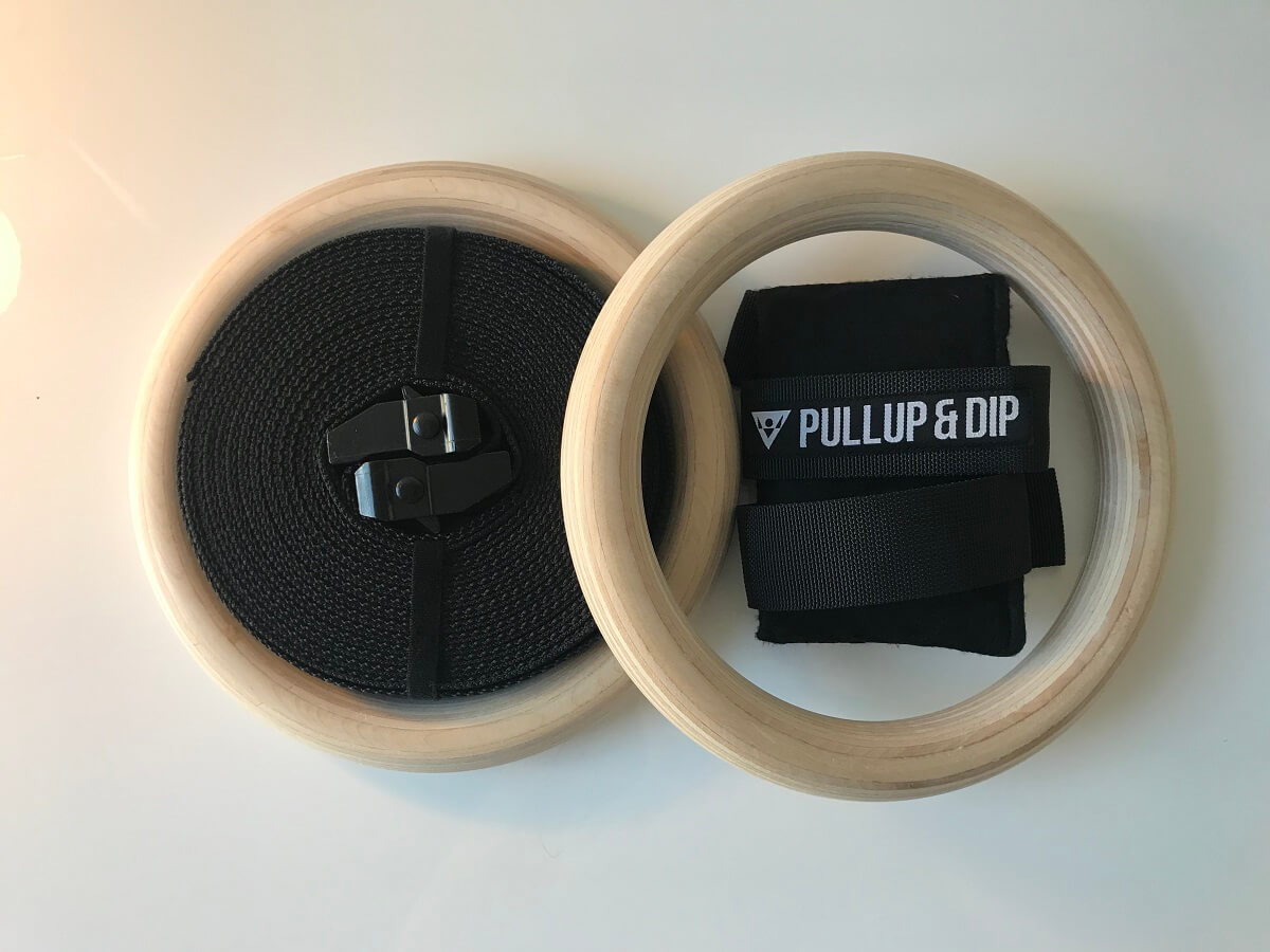 PULLUP AND DIP Wooden Gymnastic Rings