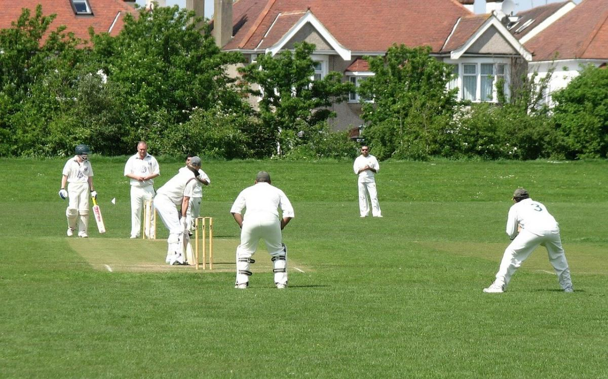 Group of people playing Cricket