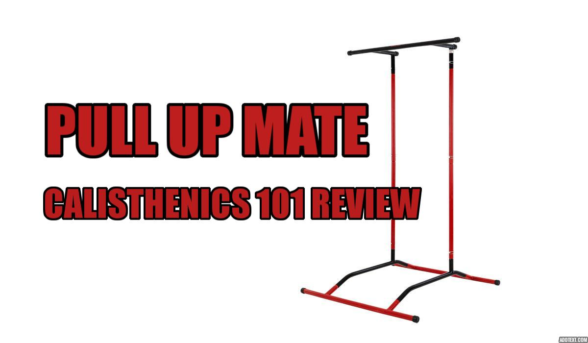 The 'Pull Up Mate' portable pull-up bar