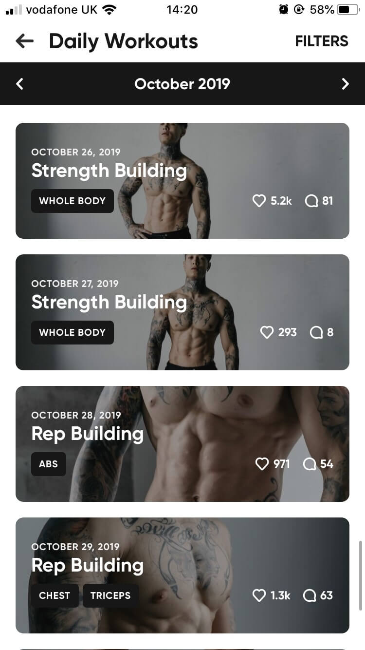 Thenx - Daily Workouts