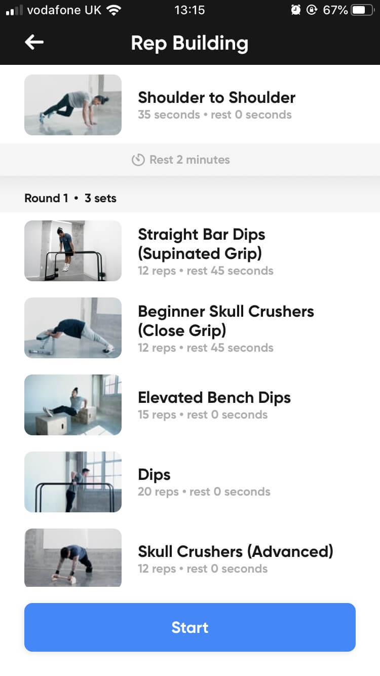 Thenx - Overview of Rep Building workout