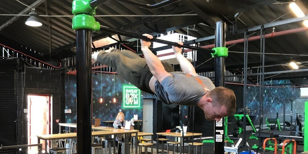 Calisthenics back lever static hold