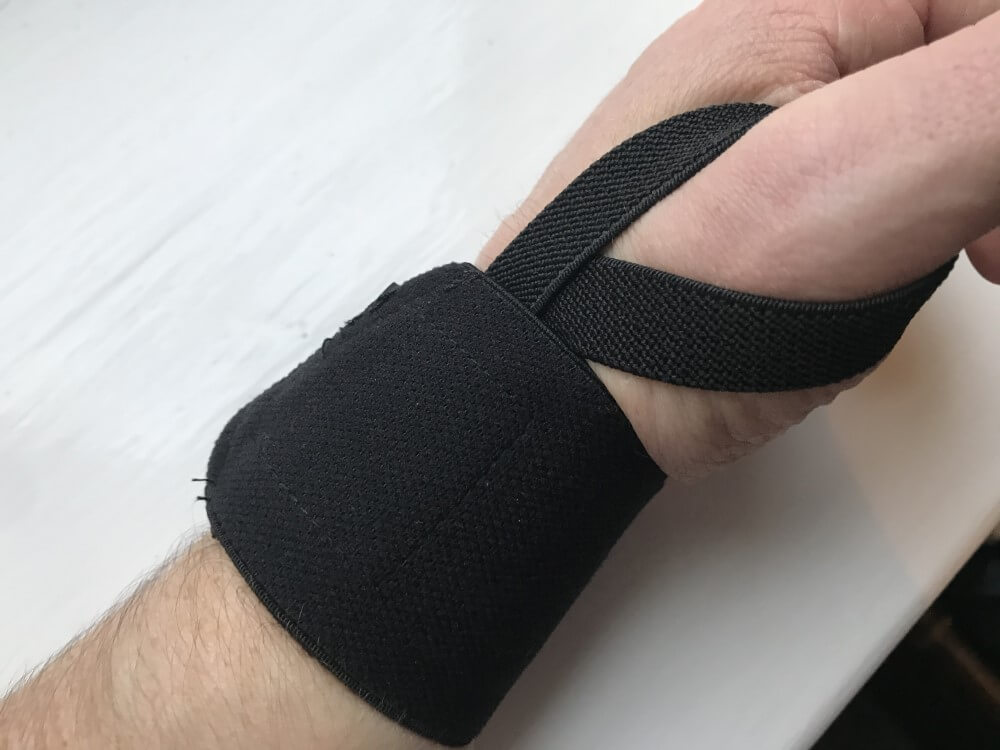 Pullup & Dip wrist wraps - side view
