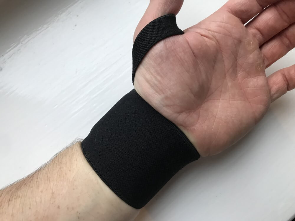 Pullup & Dip wrist wraps - underside view