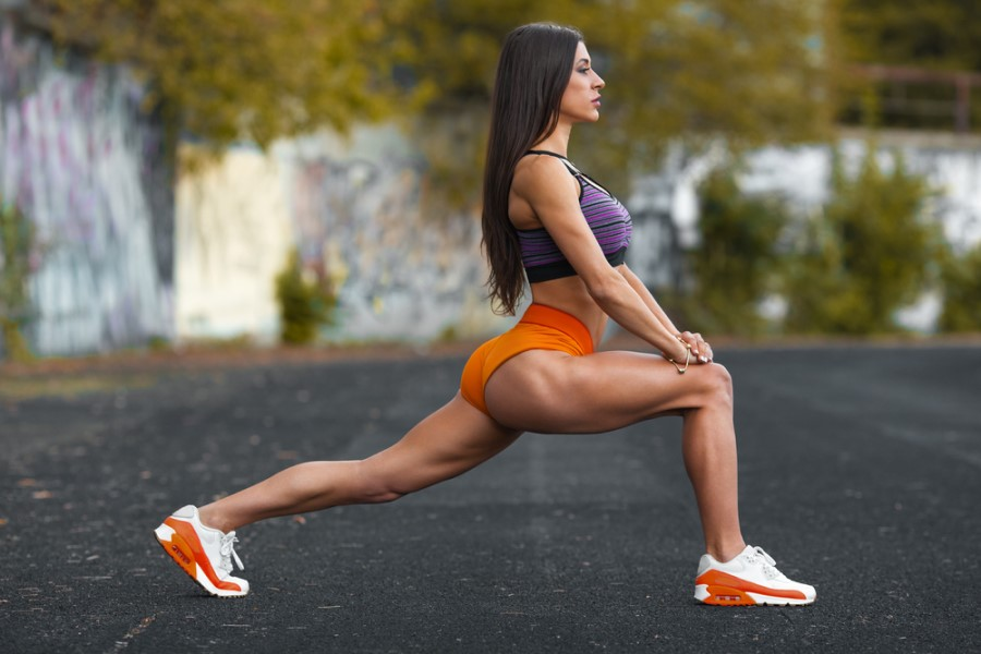 Women performing lunges