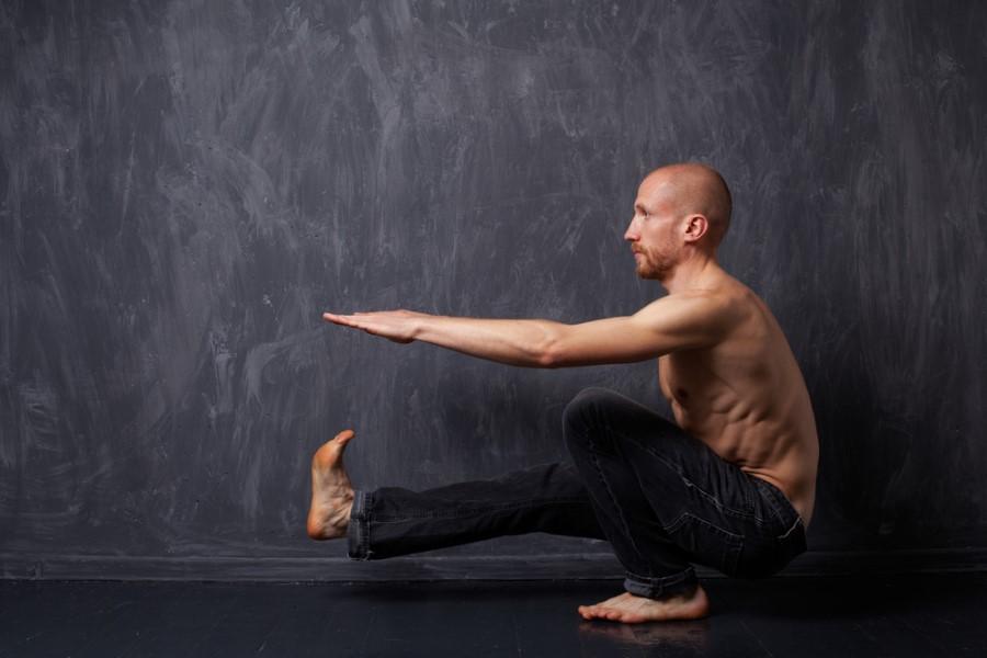 Man performing Pistol Squat exercise